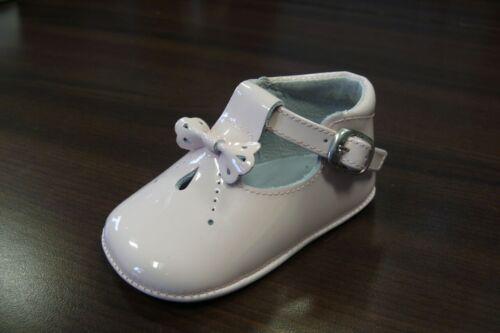 PRETTY ORIGINALS chaussures de bébé blanc et rose 4 To 12 mois S1 taille 16 To 19