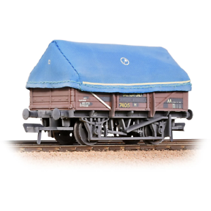 Bachmann-33-085A-OO-Gauge-BR-5-Plank-China-Clay-Wagon-w-Hood