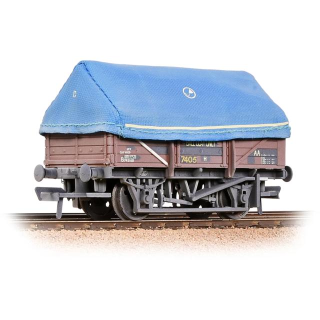 Bachmann 33-085A OO Gauge BR 5 Plank China Clay Wagon w Hood