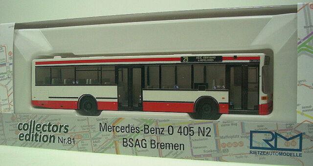 1//87 Rietze MB O 405 N2 SWU Ulm 75237