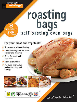 Other Honest 8 Standard Roasting Self Basting Oven Bags 25 X 38 Cm