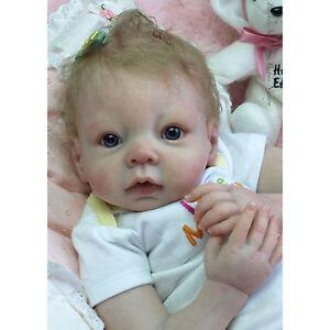 20-034-Handgemachte-Lebensechte-Neugeborene-Wiedergeborene-Baby-Puppe-Geschenk-Neu