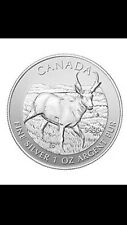 1 oz 9999+ pure silver coin Canadian Pronghorn Antelope Limited Edition
