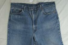 Vtg 70s Black Bar Tack Levi 517 USA Made Boot Cut Denim Jeans Measure 41x29