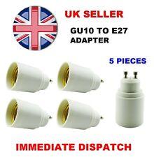 5 x GU10 To E27 Bulb Base Lamp Socket Fitting Extender Converter Adaptor Holder