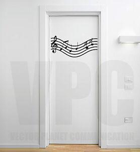 Wall stickers pentagramma note musicali musica adesivi for Specchio da parete camera amazon