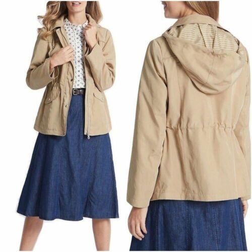 Anorak Jacket Women Beige Harrington Stormwear Coat Ex Marks and Spencer RRP£49
