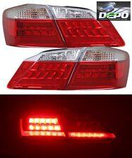 2013-2015 Honda Accord Sedan 4D LED Red Clear Tail Lights 4 Pcs by DEPO