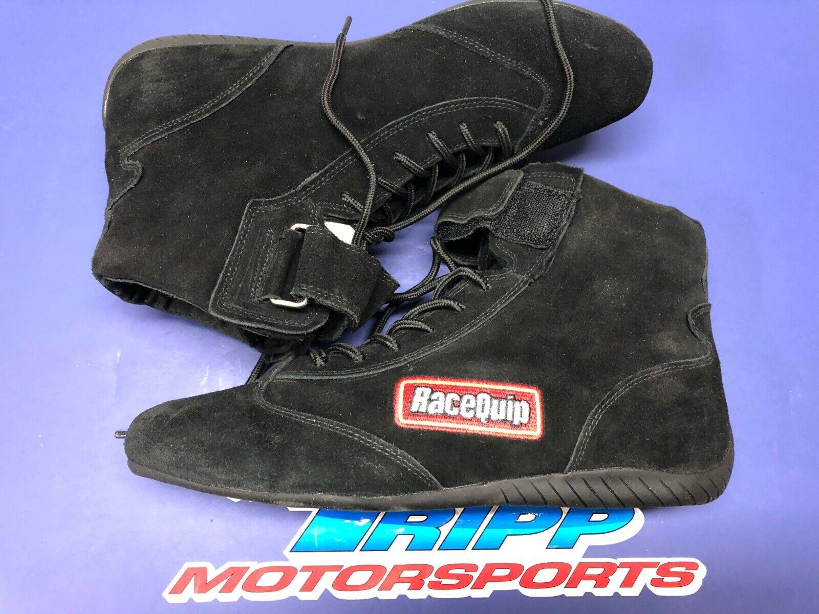 RaceQuip 30500090 Size 9 Euro SFI Racing Driving Shoes Black Suede Carbon-L