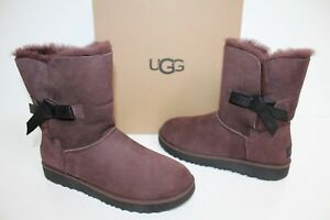 Details about UGG Australia 1016416 DEM 12 Classic Knot Suede Short  Sheepskin Boot Brown 12
