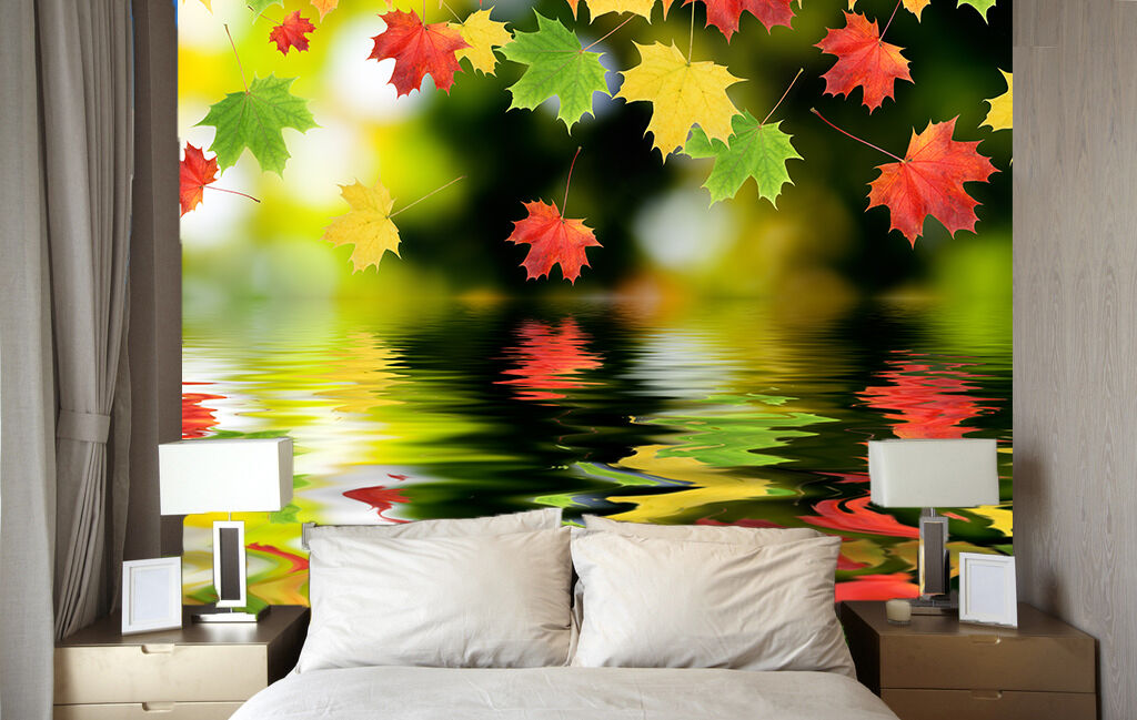 3D Leaf color paint 3940 Paper Wall Print Decal Wall Wall Mural AJ WALLPAPER GB