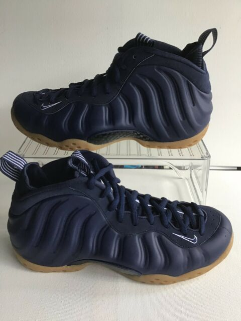 NIKE AIR FOAMPOSITE ONE MIDNIGHT NAVY/GUM-LIGHT BROWN MNS. SIZE 8.5 (314996-405)