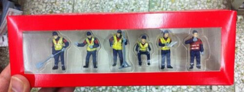HO Worker Workers Figures 6 pack 1:87