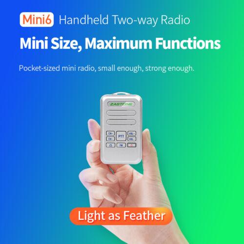 Zastone Mini6 Portable Two Way Ham Radio UHF440-470mHz Walkie Talkie Transceiver