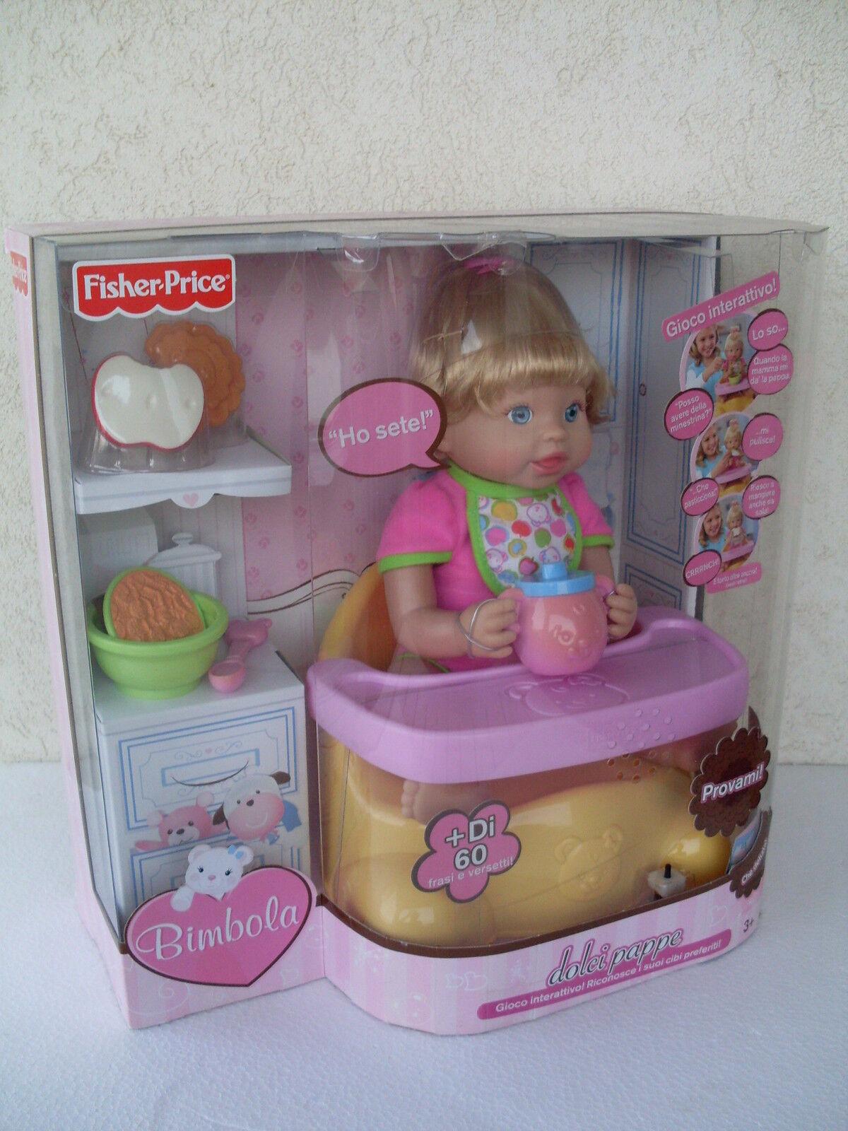 Bimbola dolci pappe interactive doll bambola muneca poupèe ok fisher fisher fisher price T1272 e84bf6