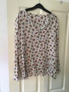 Cath-Kidston-Floral-Blouse-Size-14-Vgc-FREEPOST