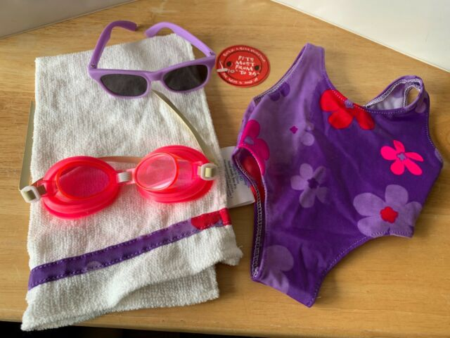 Blue Floral Tankini with Matching Bag Teddy Bear Clothes Fits 8 to 10 Build-a-Bear and Make Your Own Stuffed Animals