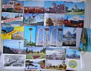 Details about 21 X vintage mixed Lot of WASHINGTON STATE postcards    sold  as 1 Lot
