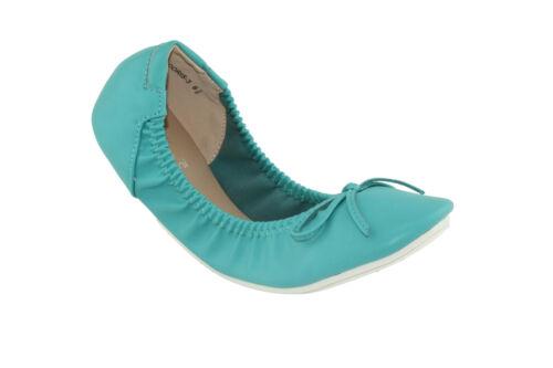 Betani Women/'s Doris-3 Comfy Foldable Bowed Slip-on Ballet Flats