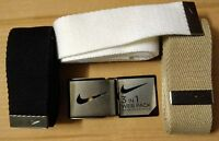 Brand Nike Golf Web Belts 3-in-1 Pack -superior Quality -one Size Fits All
