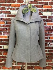 ELIE-TAHARI-WOMENS-STRETCH-GRAY-FULL-ZIP-CASUAL-JACKET-SIZE-S