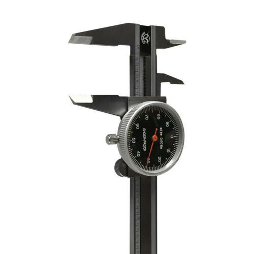 """0-4/"""" stainless Steel 4 Way Dial Caliper Black Face Shock Proof 0.001/"""" Graduation"""