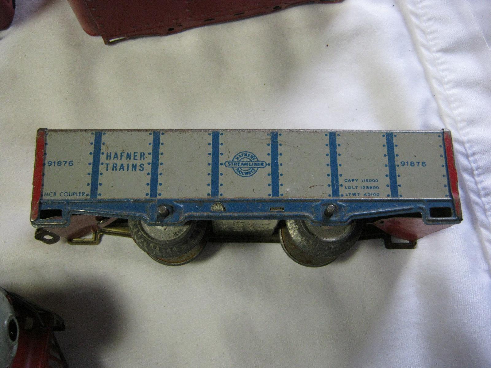 VINTAGE HAFNER WIND UP TRAIN giocattolo SET       T e4d9ef