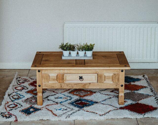 Corona Coffee Table - Waxed Pine