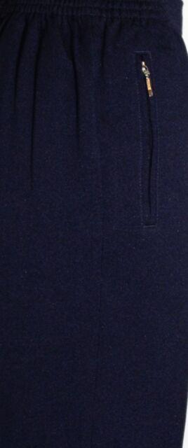 Damen Winterhose rundum Gummi Thermohose in Schwarz /& Blau QBgd1 schlupfhose