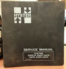Hyster Service Manual for Electric E30FR-24 and E30-50FR, 1996-2000