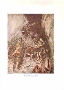 Arthur-Rackham-print-1939-Opera-print-Wagner-print-Mime-Siegfried-Fantasy-Art
