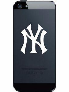 2-UNITS-New-York-YANKEES-Vinyl-Smart-Phone-Decal-Laptop-WHITE-Sticker