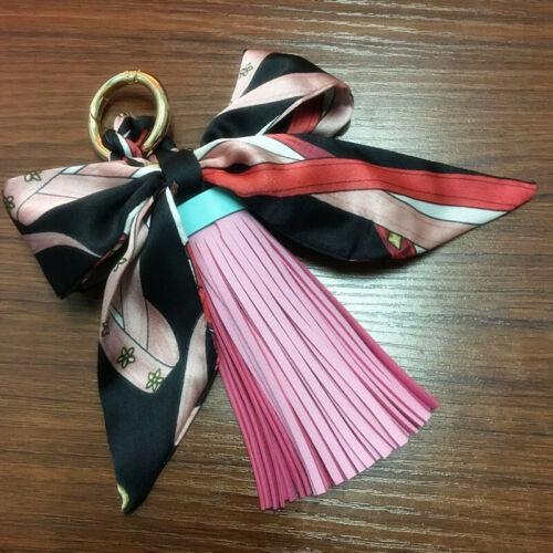 Metal Key Tassel Leather Bag Women Chain Keychain Pendant Ring Car Handbag Charm