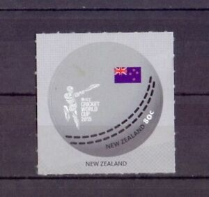 NEW-ZEALAND-2015-ICC-World-Cup-Cricket-Sport-Round-Circular-stamp-Flag-1v-MNH
