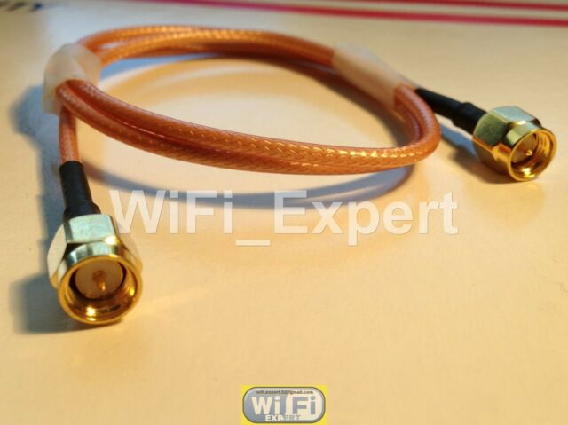 3 FEET Long SMA Male to SMA Male RF Pigtail RF Coaxial Cable RG316 90 cm - US