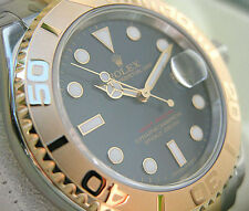 Rolex YACHT-MASTER 16623 Mens Steel & Gold Time Lapse Bezel BLUE DIAL 40MM