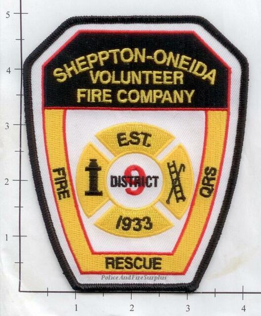 Pennsylvania - Sheppton Oneida Volunteer Fire Company PA Fire Dept Patch