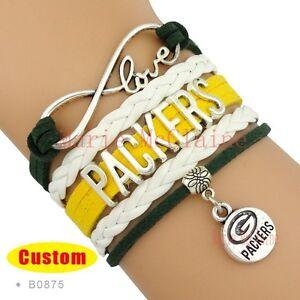 Image Is Loading Green Bay Packers Bracelet Nfl Football Infinity Team