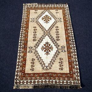 Orient Teppich Hellbeige 203 X 110 Cm Perserteppich Handgeknupft