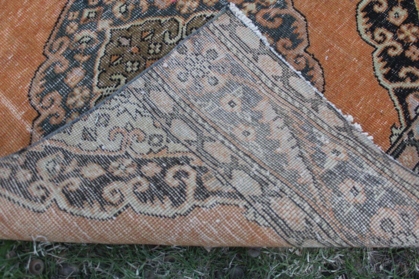 3x13 Vintage Handmade Turkish Orange Oushak Runner Rug 13'x3'3 13'x3'3 13'x3'3  b4024d