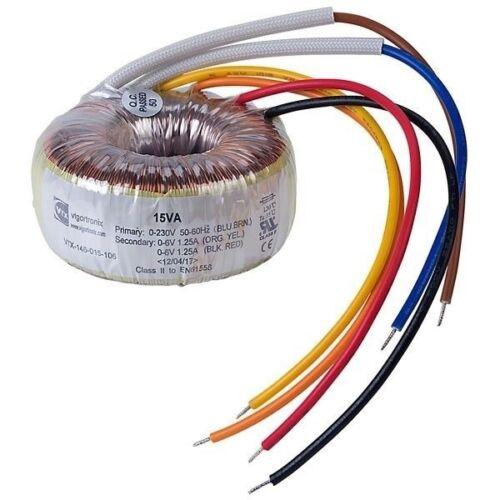 Anello nucleo-Trasformatore 230v rkt120//2x12 Trasformatore aperto 120va 2x12v 2x5000ma 858760