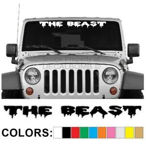The-Beast-Windshield-Decal-Sticker-Drip1-Turbo-Truck-Lift-Mud-Car-Diesel-Truck