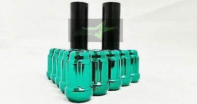 24 GREEN SPLINE LUG NUTS +2 KEYS | 12X1.5 | FITS TOYOTA FJ TACOMA TUNDRA 4RUNNER