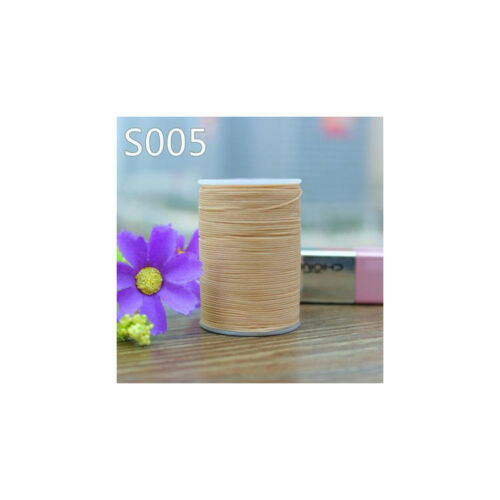 Professional 3 Strands Waxed Lined Thread 0.8mm 60M hand sewing leathercraft
