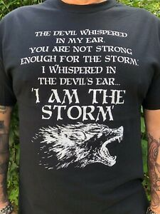 I Am The Storm Men S Style Black T Shirt Ebay I am reclaimer of my name. details about i am the storm men s style black t shirt