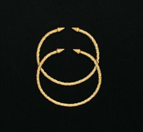 14K Gold Filled Diamond Cut Cone End West Indian Bracelet