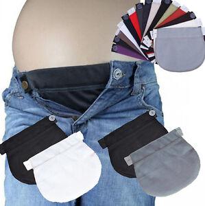 Set De 2 Maternidad Embarazo En La Cintura Cinturon De Cintura Ajustables Extensor Pantalones Mija Ebay