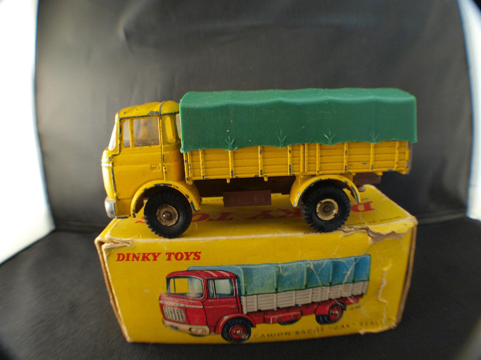 Dinky Juguetes F n° 584 camion bâché GAK BERLIET en boite