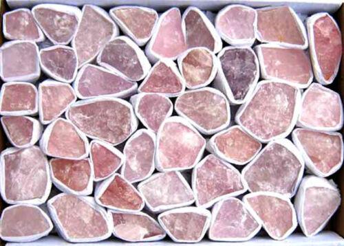 400 g.Rohsteine einzeln verpackt Rosenquarz 1 kg = 24,00 EUR