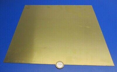 """260 Brass Flat Sheet .016/"""" Thick x 12.0/"""" Wide x 12.0/""""  Length"""